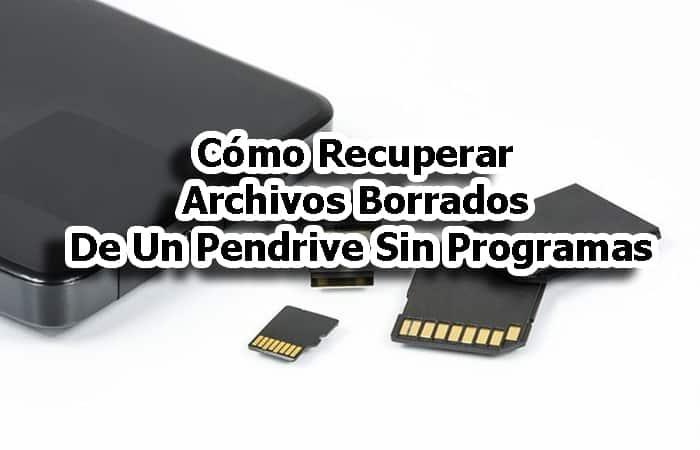 Gelöschte Dateien von einem Pendrive ohne Programme wiederherstellen