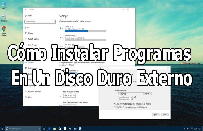 Installieren Sie Programme auf einer externen Festplatte.  Leitfaden 2021